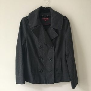 Double-Breasted Wool Pea Coat